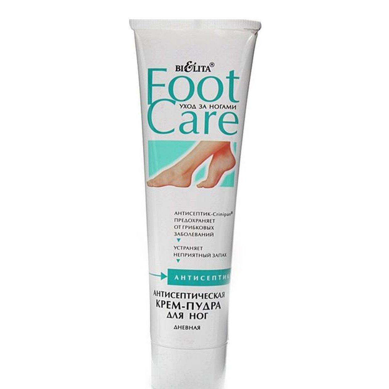 Белита Крем-пудра антисептическая для ног дневная с эфирными маслами