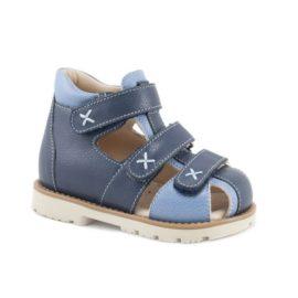 ортопедические сандалии мега ортопедик синие133 28-22