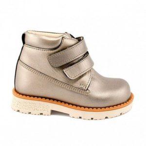 ботинки детские серебристые