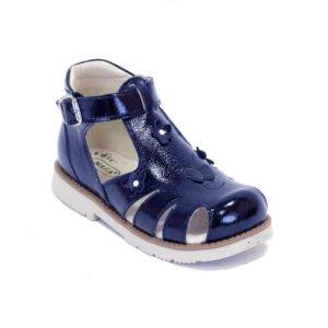 сандалии синие с закрытым мысом