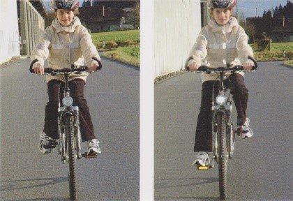 правильная постановка коленей на велосипеде