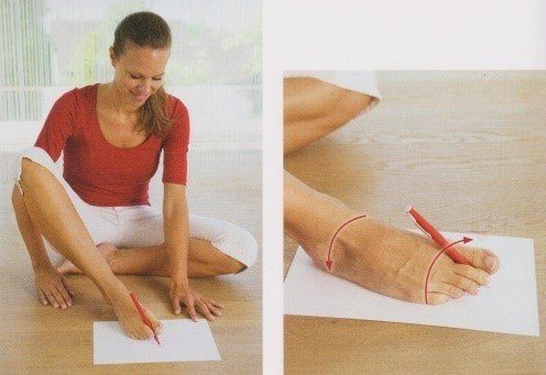 Рисунок ногой