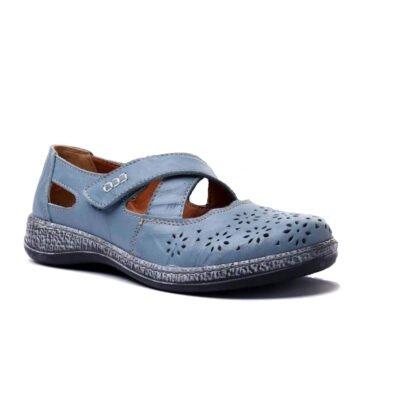 голубые туфли comfortabel